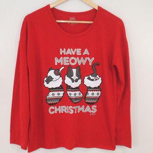 Justice Have A Meowy Christmas Pajama Sleep Top
